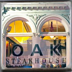 Oak Steakhouse, Charleston, South Carolina Marble Coaster. http://yhst-128736562315201.stores.yahoo.net/oaksthochscm.html