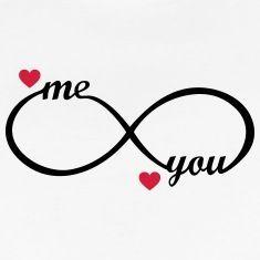 infinity symbol - you and me - heart, love, romantic, wedding love symbols Suchbegriff: 'Infinity Love Unendlich Liebe' T-Shirts online bestellen