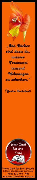 #Lesezeichen #Zitat #Flower - am Lektorenstand als #Give-away zum Mitnehmen - Leipziger #Buchmesse, Halle 5, D 401-403 http://www.lektorat-ps.com/Lektorenstand-Buchmesse