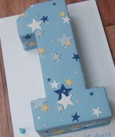 One Year Birthday Cake, Birthday Star, 1st Boy Birthday, Minnie Mouse Birthday Cakes, Baby Birthday Cakes, Number 1 Cake, Prince Birthday Party, Erdem, 1st Birthdays