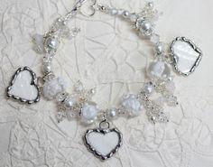 Broken China Jewelry China Heart Bridal by Robinsnestcreation1, $96.95