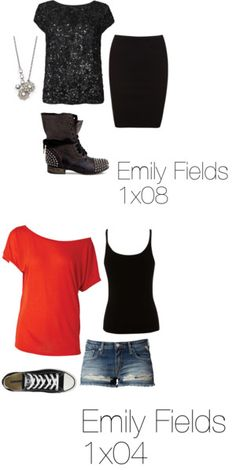 """""""Emily Fields Season 1"""" by annie15xo ❤ liked on Polyvore"""