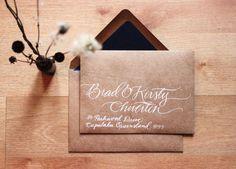 Woodland Wedding Custom Hand-Written Envelopes, $125