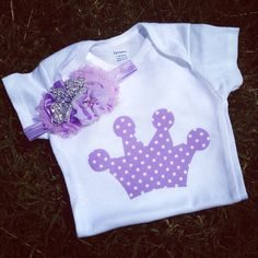 Purple Crown Birthday Princess Onesie