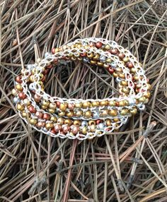 Gold and Silver Knitted Bracelet  Necklace by KimberlysCraftini, $25.00