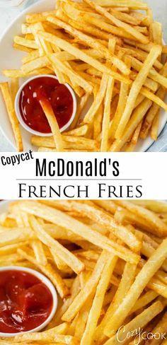 Mcdonalds French Fries Recipe, Mcdonalds Recipes, Mcdonald French Fries, Mcdonalds Fries, Potato Side Dishes, Best Side Dishes, Side Dish Recipes, Dinner Recipes, Sandwich Croque Monsieur
