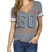 Men's Chicago Bears Junk Food Gray Touchdown Tri-Blend T-Shirt