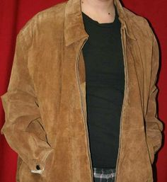 American Classics Colebrook Brown Suede Bomber Jacket Mens Large | eBay