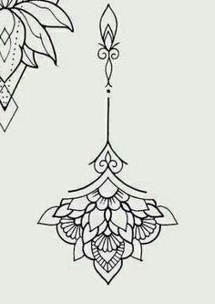 300 Sexy Tattoo Designs - Original by Tattooists Mini Tattoos, Body Art Tattoos, Small Tattoos, Foot Tattoos, Tatoos, Mandala Tattoo Design, Henna Tattoo Designs, Mandala Sternum Tattoo, Designs Mehndi