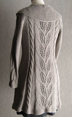 Seed stitch, lace and cables are elegantly balanced in this cardigan/jacket: Milkweed by Carol Sunday (via @Ravelry)