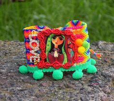 bracelet virgin Virgin of Guadalupe woven bracelet woven