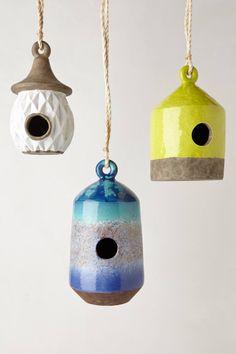 Handcrafter ceramic birdhouses @ Anthropologie