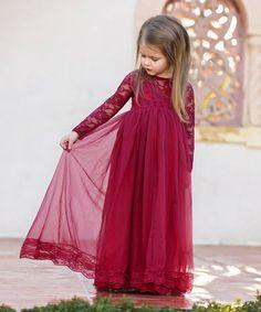 Look what I found on #zulily! Wine Casual Dress - Toddler & Girls #zulilyfinds