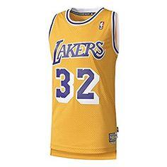 8b9310ec97e adidas Herren Basketball Los Angeles Lakers Retired Trikot, Gelb, L, A46431  Trikot,