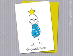 "Congratulations Card, You Did It Greeting Card, So Proud of You Card, Way to Go Card, Congratulations Promotion Card - 5"" x 7"""