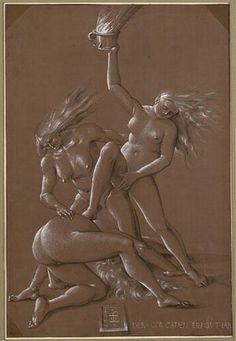 Hans Baldung gen. Grien, Neujahrsgruß mit drei Hexen, 1514 © Albertina, Wien Hans Baldung Grien, Surreal Art, Installation Art, Surrealism, Street Art, Weird, The Past, Sculptures, Art Gallery