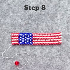 Independence Day DIY Project – Peyote Stitch Beaded Ring