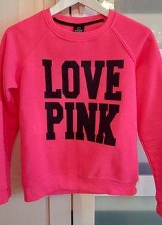 Kupuj mé předměty na #vinted http://www.vinted.cz/damske-obleceni/s-dlouhymi-rukavy/13908894-krasna-ruzova-mikinka-pink-victorias-secret
