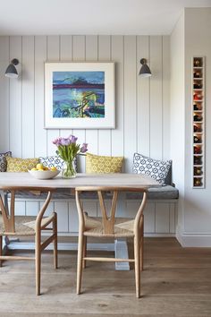 This beautiful Victorian house in London was given a second chance – Dining Room Coin Banquette, Banquette Dining, Dining Room Table, Table And Chairs, Farm Tables, Wood Tables, Rustic Table, Lounge Chairs, Side Tables
