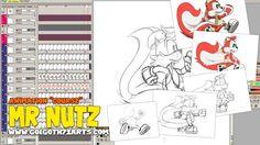TVPAINT - Animation de course du personnage du nouveau jeu vidéo Mr Nutz #videogame #jeux #supernintendo #retrogaming #sega #retro #nintendo