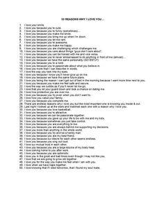 50 reasons why I love you: