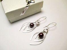 Silver Earrings sterling silver silver 925 gift by PetyaJewelry