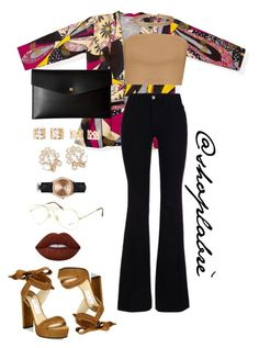 """""""Untitled #4"""" by breanna-x ❤ liked on Polyvore featuring Boohoo, Jimmy Choo, STELLA McCARTNEY, Lodis, Miss Selfridge, Forever 21, Marchesa, Kennett, Ray-Ban and Lime Crime"""