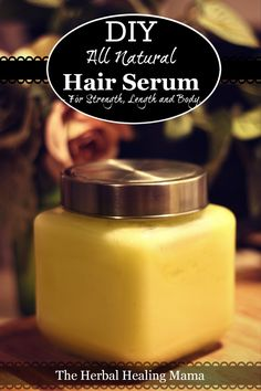 This all natural / herbal hair serum / mask is packed full of beneficial ingredients to promote hair growth, thicken and strengthen your locks as well as heal any scalp or dry/ damage issues.: This all natural / herbal hair serum / mask is packed ful Natural Hair Serum, Diy Hair Serum, Natural Hair Tips, Natural Hair Styles, Natural Oil, Diy Hair Care, Hair Care Tips, Diy Cosmetic, Pelo Afro