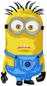 Minion machine embroidery design. Machine embroidery design. www.embroideres.com
