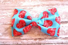 I Love Lucy Fabric Hair Bow Lucille Ball Hair Bow by LilaJo