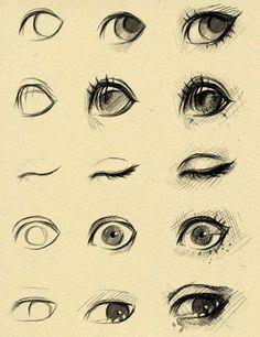 Eye Drawing Tutorial Sketches by ryky. Eye Drawing Tutorials, Drawing Techniques, Drawing Tips, Drawing Reference, Art Tutorials, Painting & Drawing, Drawing Drawing, Drawing Faces, Drawing Ideas