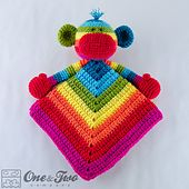 Ravelry: Rainbow Sock Monkey Lovey pattern by Carolina Guzman