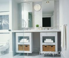 Marble And Glass Bathroom | House & Home