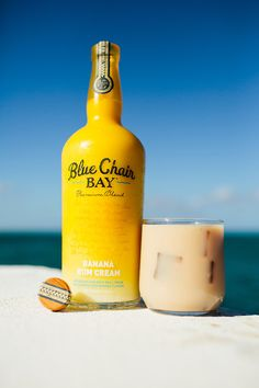 2 Oz Blue Chair Bay Banana Rum 2 Oz Clear Creme De Cacao