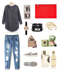 """""""Boyfriend Look in the Airport"""" by jia-huii-elio on Polyvore featuring Scott, Victoria Beckham, Chiara Ferragni, Barbour, Gorjana, Benefit, Givenchy and STOW"""
