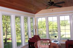 sunroom with casement windows