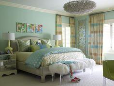 loveeeeee the bench at foot of bed! | Laura Lee Clark Interior Design | Gallery | Bedrooms