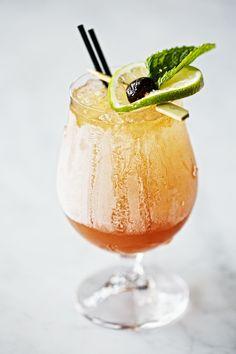 Autumn of '75 (Gin + Cranberry-Pear Shrub + St. Germain Elderflower Liquer + Argus Sparkling Hard Cider),