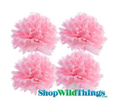 Tissue Paper Pom Poms are a fun and inexpensive way to add a lot of fresh color to your special event. They are stylish flowers that