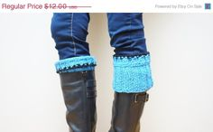 SALE 20 OFF Boot cuffs hand knitted Leg warmers topper by feltinga, $9.60