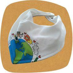 Designer baby bib  bandana Baby bib  from ORGANIC by rockbabies