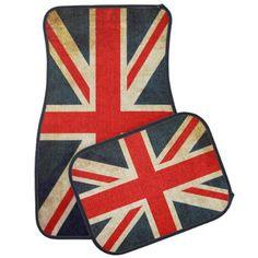 Vintage Union Jack British Flag Car Floor Mat - vintage gifts retro ideas cyo