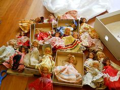 AMAZING LOT 22 BISQUE NANCY ANN STORYBOOK DOLLS SOME RARE ALSO BOXES TAGS