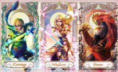Legend of Zelda - Courage Wisdom Power by Miyukiko. via: http://miyukiko.deviantart.com/