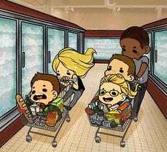 Team Arrow adventures in the grocery store! Source via twitter