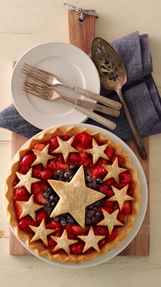 4th Of July Slab Pie