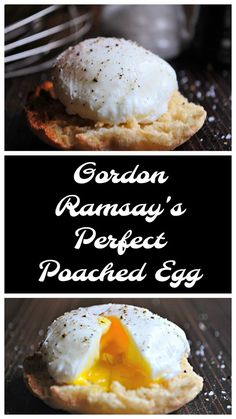 Keat's Eats: Gordon Ramsay's Perfect Poached Egg - Keat's Eats: Gordon Ramsay's Perfect Poached Egg - Breakfast Dishes, Breakfast Recipes, Healthy Egg Breakfast, Homemade Breakfast, Perfect Poached Eggs, Poached Eggs Microwave, Perfect Fried Egg, Do It Yourself Food, Lunches