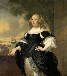 1668 Bartholomeus van der Helst & Ludolf Bakhuysen - Geertruida the Dubbelde, Wife of Aert van Nes
