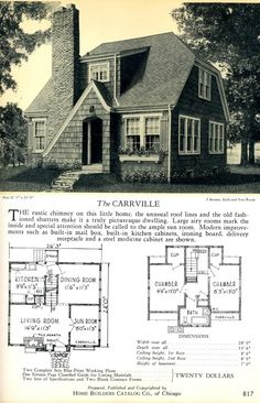 love that many of these compact homes included a sunroom Small House Floor Plans, Small Tiny House, Small Houses, Cottage Plan, Cottage Living, Vintage House Plans, Vintage Homes, Discount Bedroom Furniture, 1920s House