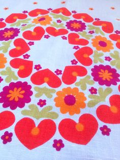 60s big vintage mid century modern tablecloth with by Inspiria, $65.00